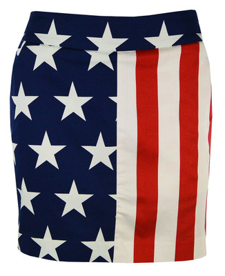 Loudmouth Golf- Ladies Stars & Stripes StretchTech Fabric Skort
