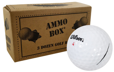 Wilson Mix Mint Used Recycled Golf Balls [36-Ball]**