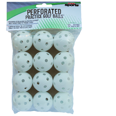 PrideSports Golf- Practice Hollow 12 Count Golf Balls