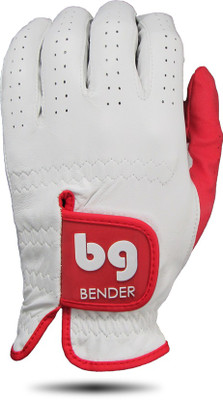 Bender Gloves- MLH Elite Cabretta Leather Glove White with Red