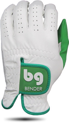 Bender Gloves- MLH Elite Cabretta Leather Glove White with Green