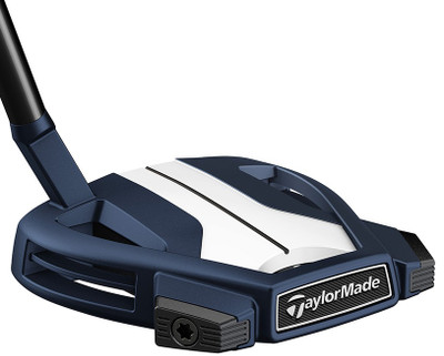 Pre-Owned TaylorMade Golf Spider X Navy/White Small Slant W/SightLine Putter