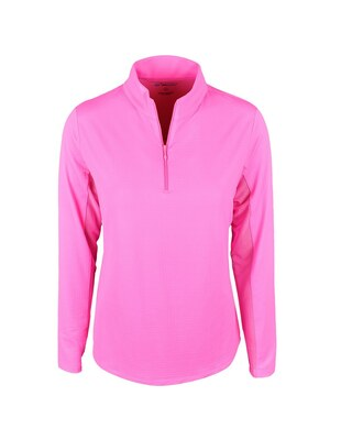 IBKUL Golf- Ladies Solid Long Sleeve Mock