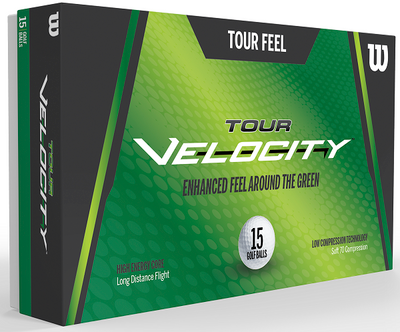 Wilson Tour Velocity Feel Golf Balls [15-Ball]