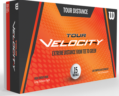 Wilson Tour Velocity Distance Golf Balls [15-Ball]