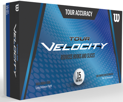 Wilson Tour Velocity Accuracy Golf Balls [15-Ball]