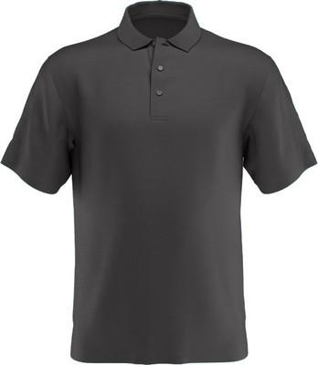 PGA Tour Golf- Short Sleeve AirFlux Solid Mesh Polo