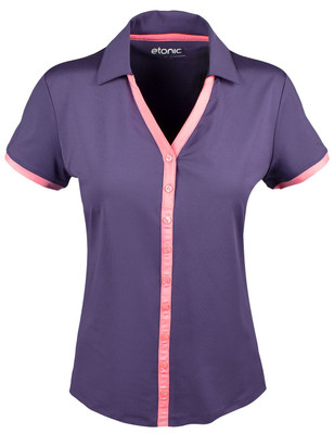 Etonic Golf- Ladies Short Sleeve Button Polo