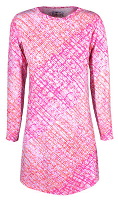 IBKUL Golf- Ladies Liz Long Sleeve Crew Neck Dress