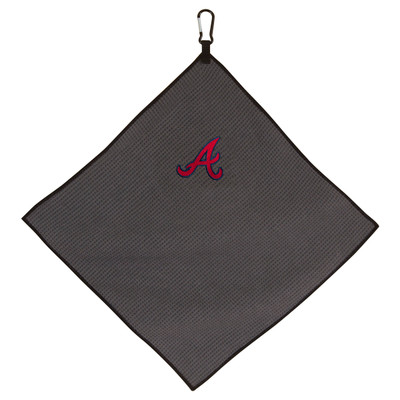 "Team Effort Golf- MLB 15"" x 15"" Grey Microfiber Towel"