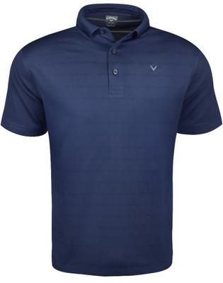 Callaway Golf- Horizontal Tonal Texture Stripe Polo