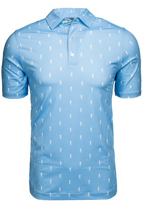 U Suck At Golf- Here For Beer Pattern Polo