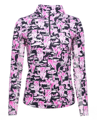 IBKUL Golf- Ladies Sammy Long Sleeve Mock