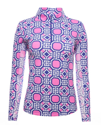 IBKUL Golf- Ladies Classic Key Long Sleeve Mock