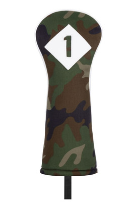 Titleist Golf- Woodland Leather & Cotton Twill Driver Headcover Camo Collection