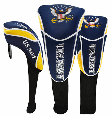 Hot-Z Golf US Military Head Cover Set Driver Fairway Hybrid Navy
