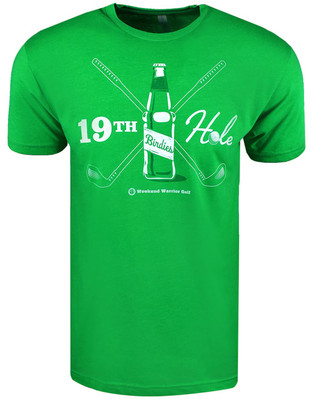 Weekend Warrior Golf 19TH Hole Two Tone T-Shirt
