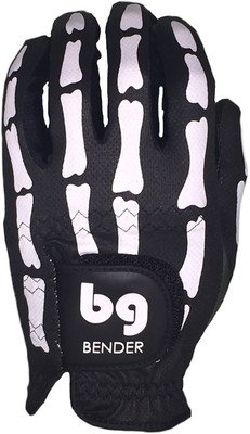 Bender Gloves- MLH Mesh Golf Glove Black Bones