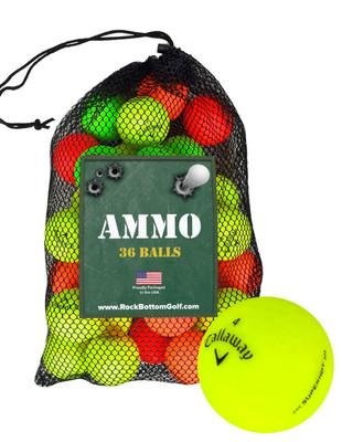 Callaway SuperHot Bold Matte Fair Recycled Used Golf Balls [36-Ball]