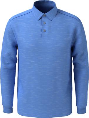 PGA Tour Golf- Long Sleeve Poly/Rayon Slub Polo
