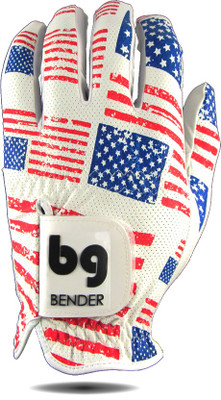 Bender Gloves- MLH Colored Golf Glove Mesh Patriot