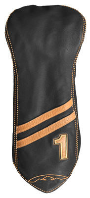 Sun Mountain Golf- Leather Driver Striped Headcover