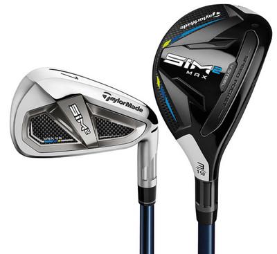 TaylorMade Golf- SIM2 Max OS Combo Irons (8 Club Set) Graphite