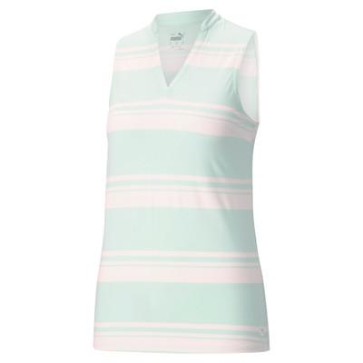Puma Golf- Ladies Cloudspun Valley Stripe Sleeveless Polo