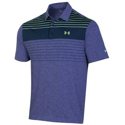 Under Armour Golf- Playoff 2.0 Press Stripe Polo Chest Logo