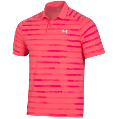 Under Armour Golf Performance Iso-Chill Mixed Stripe Polo Chest Logo