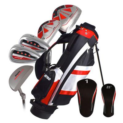 Nitro Golf Blaster Pro Junior Boys 8 Piece Complete Set With Bag Graphite (Ages 5-8)
