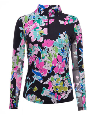 IBKUL Golf- Ladies Flora Long Sleeve Mock