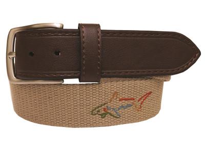 Greg Norman Golf- Embroidered Logo Web Belt