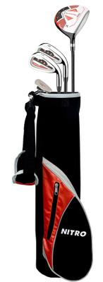 Nitro Golf Blaster Pro Junior Boys 6 Piece Complete Set With Bag Graphite (Ages 3-5)
