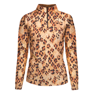 IBKUL Golf- Ladies Leopard LE Long Sleeve Mock