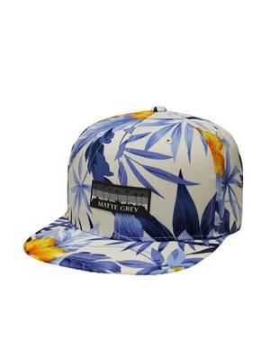 Matte Grey Golf- 9 Palm Horizon Aloha Strapback Hat