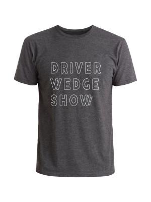 Matte Grey Golf Driver Wedge Show T-Shirt