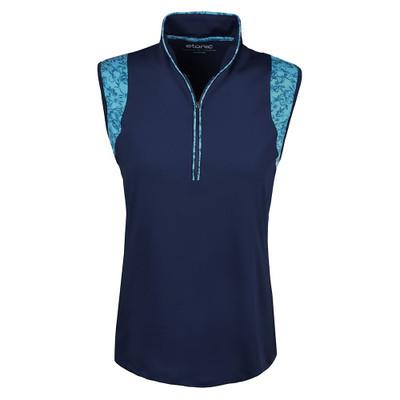 Etonic Golf- Ladies Solid Flora Sleeveless Polo