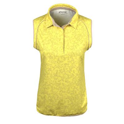 Etonic Golf- Ladies All Over Print Flora Sleeveless Polo