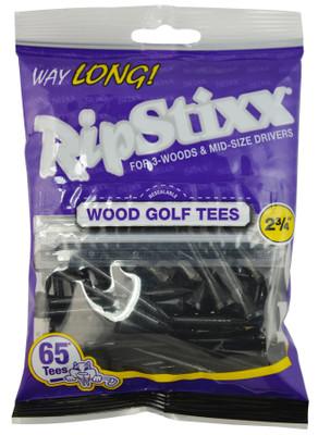 """PrideSports Golf- 2 3/4"""" Way Long RipStixx Wood Tees (65 Pack)"""