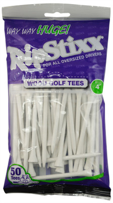 "PrideSports Golf- 4"" Way Huge RipStixx Wood Tees (50 Pack)"