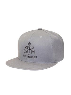Matte Grey Golf- Keep Calm Snapback Hat
