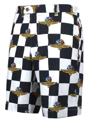 Loudmouth Golf- Indy 500 Checkered Flag StretchTech Shorts