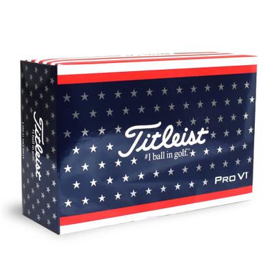 Titleist Pro V1 USA Golf Balls 6-Pack