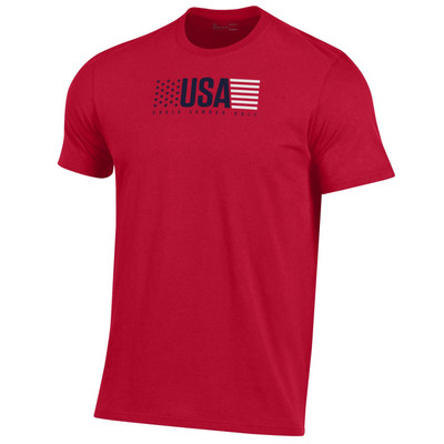 Under Armour Golf Performance Cotton T-Shirt (Red, White & Blue Collection)