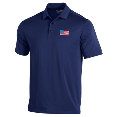 Under Armour Golf- T2 Green USA Flag Polo (Red, White & Blue Collection)
