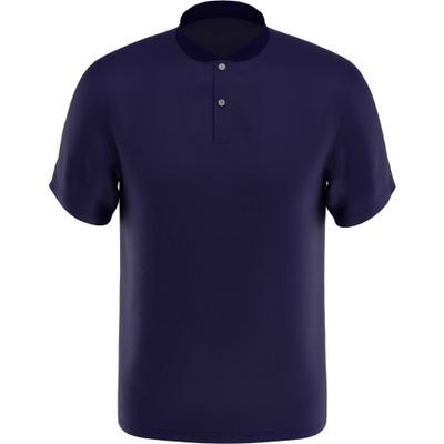 PGA Tour Golf- Short Sleeve Baseball Collar Pique Polo