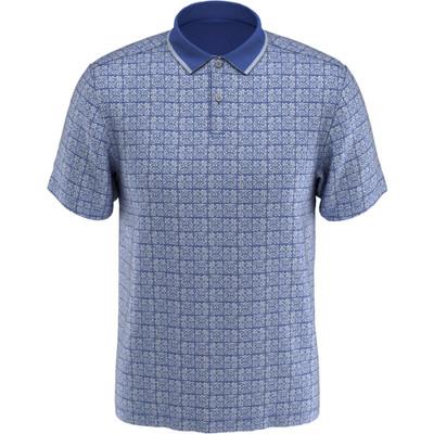 PGA Tour Golf- Short Sleeve Floral Batik Print Polo