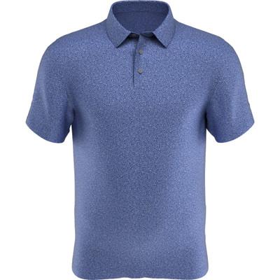 PGA Tour Golf- Short Sleeve Allover Textured Print Polo