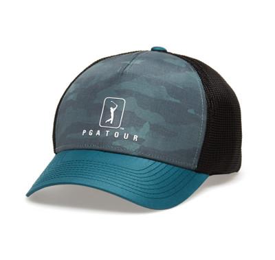 PGA Tour Golf- Camo Trucker Hat